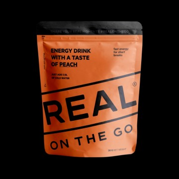 REAL On the Go Energy Drink with a Taste of Peach