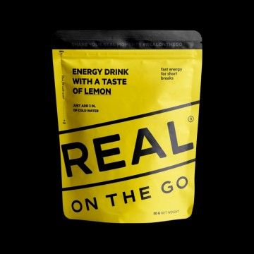 REAL On the Go Energy Drink with a Taste of Lemon